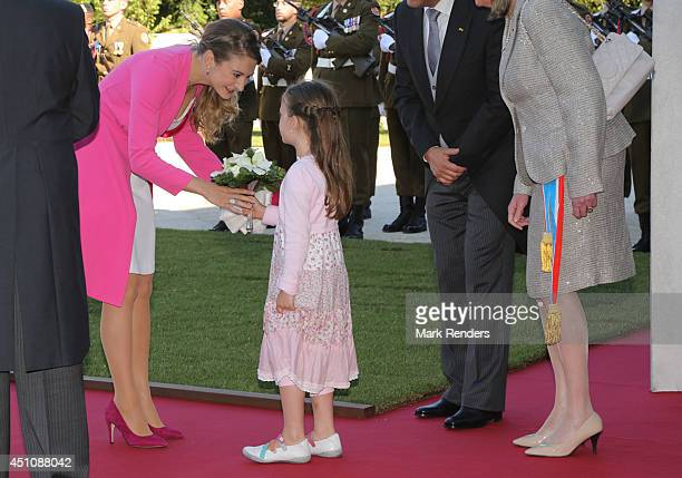 Princess Stephanie of Luxembourg celebrates National Day at the Theatre on June 23 2014 in Luxembourg Luxembourg