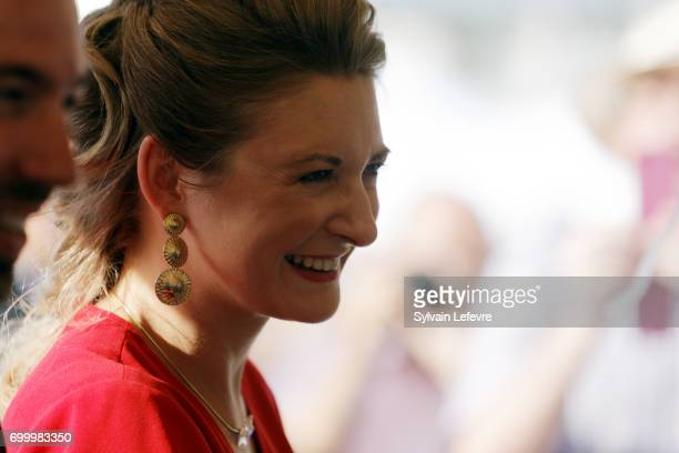 Princess Stephanie of Luxembourg visits EschsurAlzette for National Day on June 22 2017 in Luxembourg Luxembourg