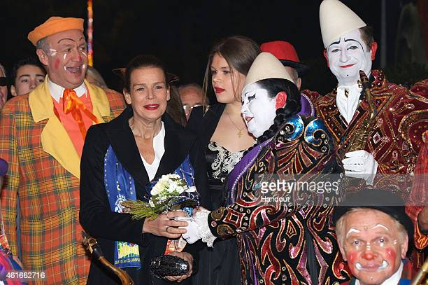 Princess Stephanie of Monaco and Camille Gotlieb attend the 39th International Circus Festival of Monte Carlo on January 16 2015 in Monaco Monaco