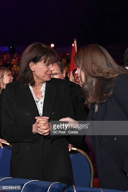 Princess Stephanie of Monaco and Camille Gottlieb attend the 41st MonteCarlo International Circus Festival on January 22 2017 in MonteCarlo Monaco