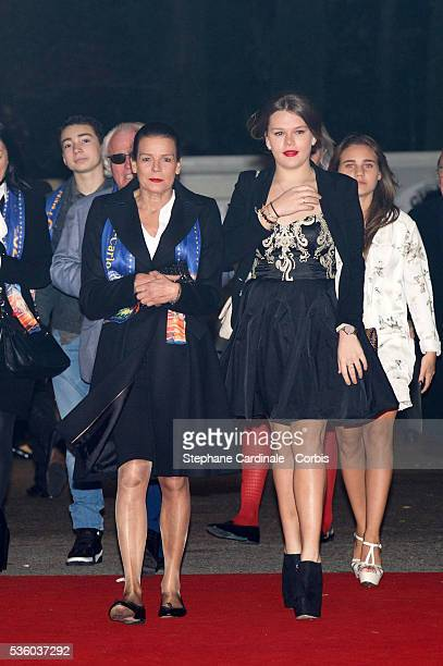 Princess Stephanie of Monaco and her daughter Camille Gottlieb attend the 39th International Circus Festival of MonteCarlo on January 16 2015 in...