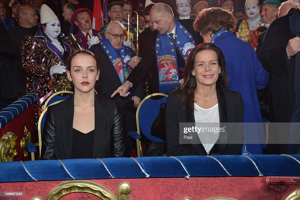 Princess Stephanie of Monaco and her daughter Pauline Ducruet attend the opening of the Monte-Carlo 37th International Circus Festival on January 17, 2013 in Monte-Carlo, Monaco.