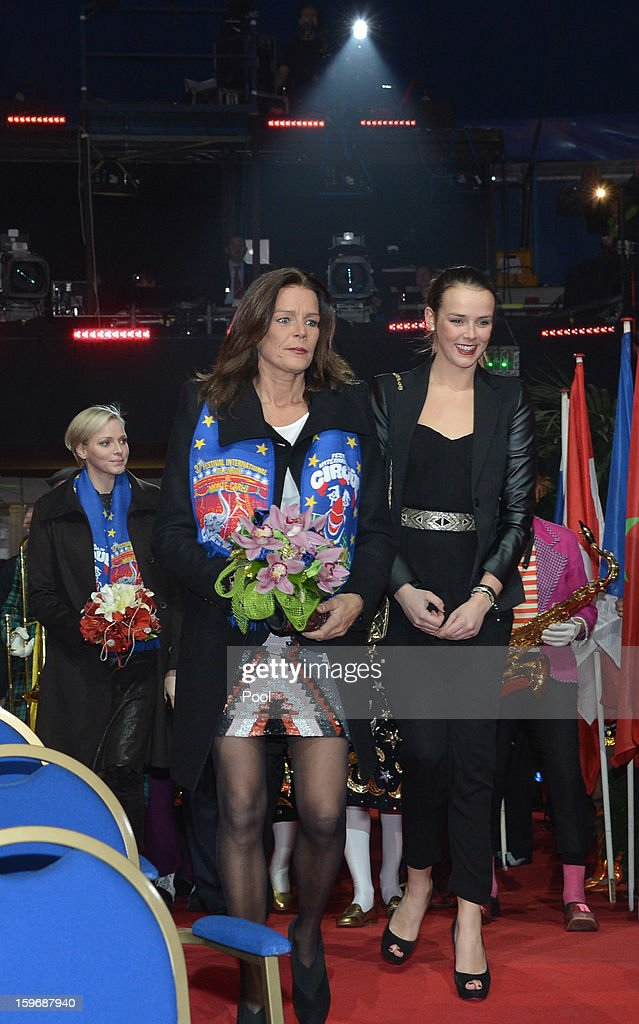 Princess Stephanie of Monaco and her daughter <a gi-track='captionPersonalityLinkClicked' href=/galleries/search?phrase=Pauline+Ducruet&family=editorial&specificpeople=2084053 ng-click='$event.stopPropagation()'>Pauline Ducruet</a> attend the opening of the Monte-Carlo 37th International Circus Festival on January 17, 2013 in Monte-Carlo, Monaco.