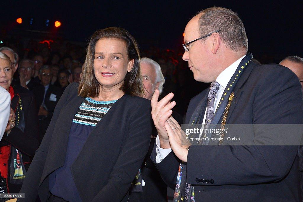 Princess Stephanie of Monaco and Prince Albert II of Monaco attend the 38 th Monte-Carlo Circus international Festival, in Monaco.