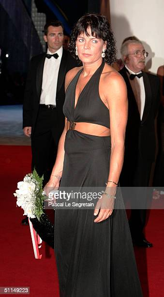 Princess Stephanie of Monaco arrives at the Monte Carlo Red Cross Ball 2004 held at the Salle des Etoiles of the Monaco Sporting Club on August 6...