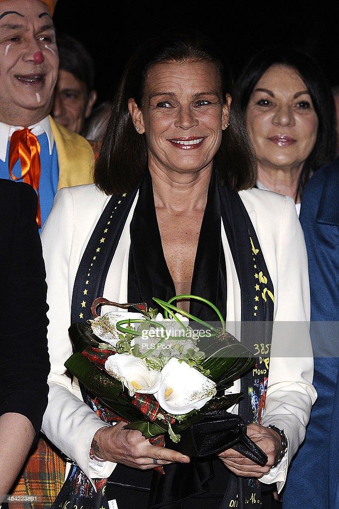 Princess Stephanie of Monaco attends the 38th International Circus Festival on January 21 2014 in MonteCarlo Monaco