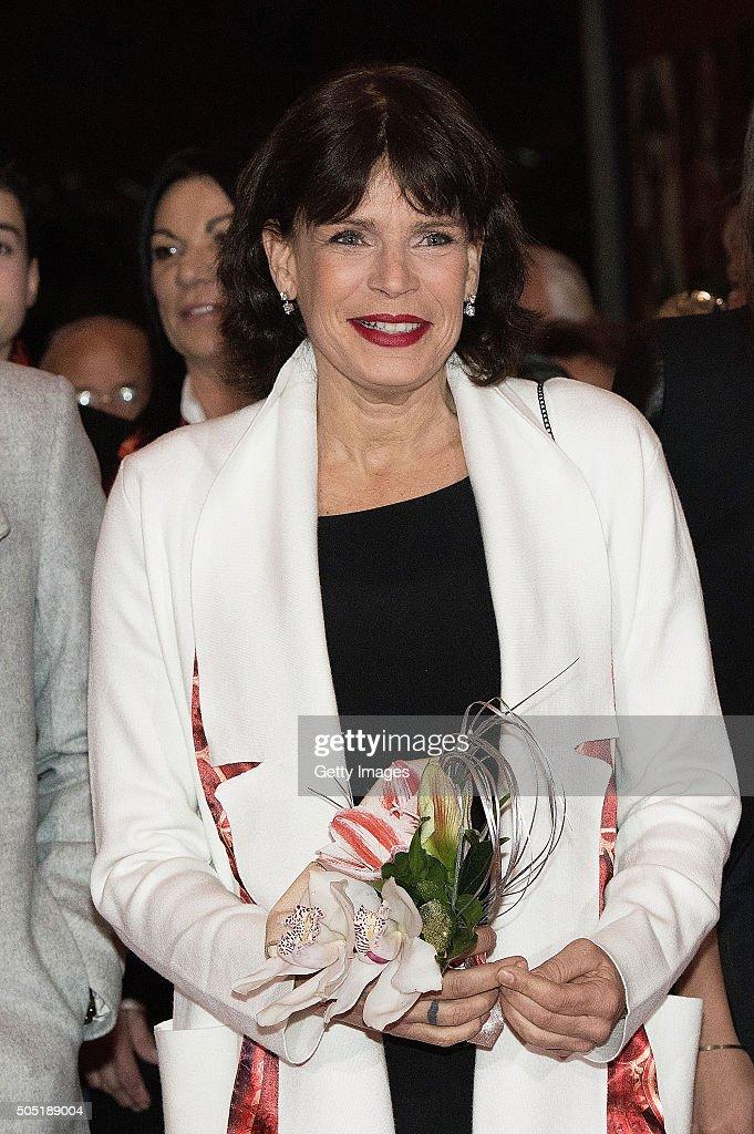 Princess Stephanie of Monaco attends the 40th International Circus Festival on January 15 2016 in Monaco Monaco
