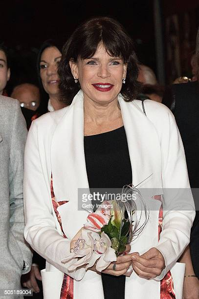 Princess Stephanie of Monaco attends the 40th International Circus Festival on January 15 2016 in Monaco Monaco