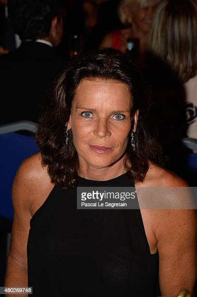 Princess Stephanie of Monaco attends the Fight Aids Charity Gala In MonteCarlo on July 10 2015 in Monaco Monaco