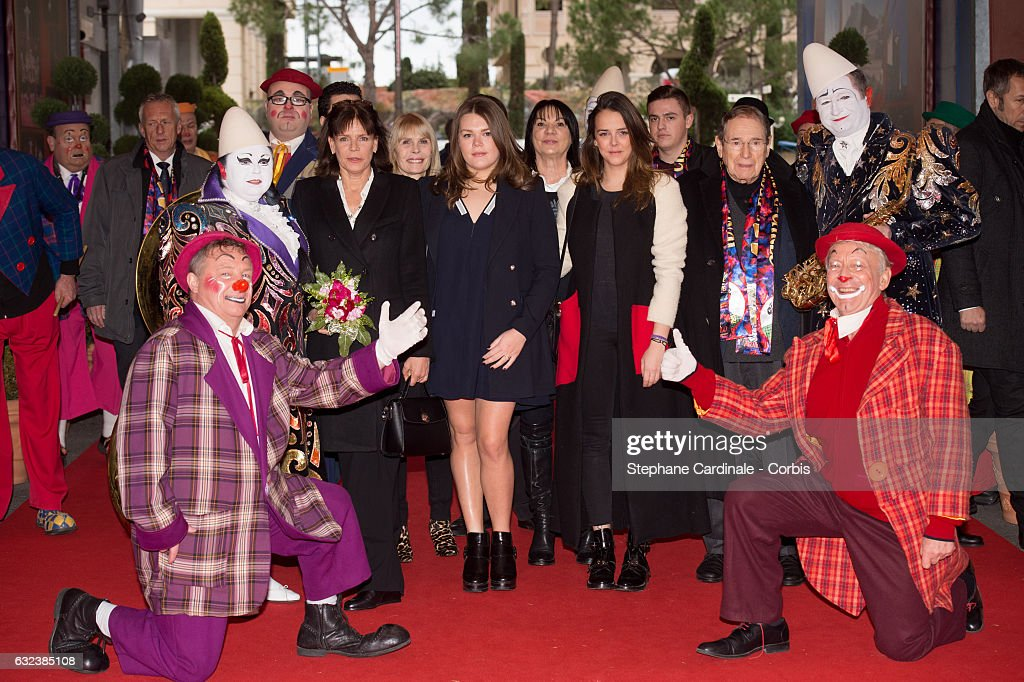 Princess Stephanie of Monaco, Camille Gottlieb, Pauline Ducruet and Robert Hossein attend the 41st Monte-Carlo International Circus Festival on January 22, 2017 in Monte- Carlo, Monaco.