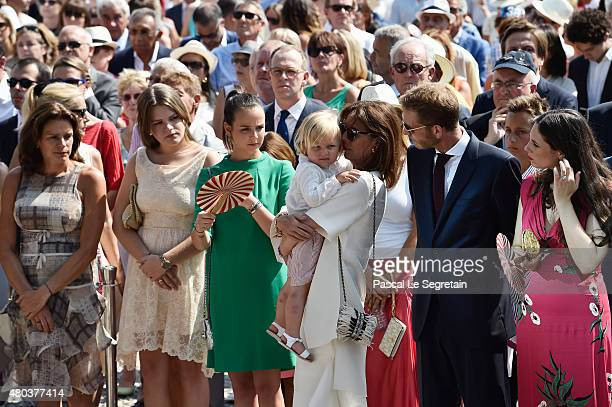 Princess Stephanie of Monaco Camille Gottlieb Pauline Ducruet Princess Caroline of HanoverAndrea Casiraghi and Tatiana Casiraghi attend the First Day...