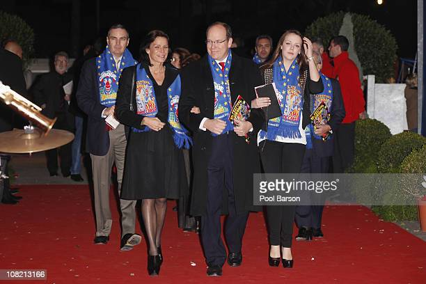 Princess Stephanie of Monaco HSH Prince Albert II of Monaco and Pauline Ducruet attend the Opening Ceremony of the 35th MonteCarlo International...