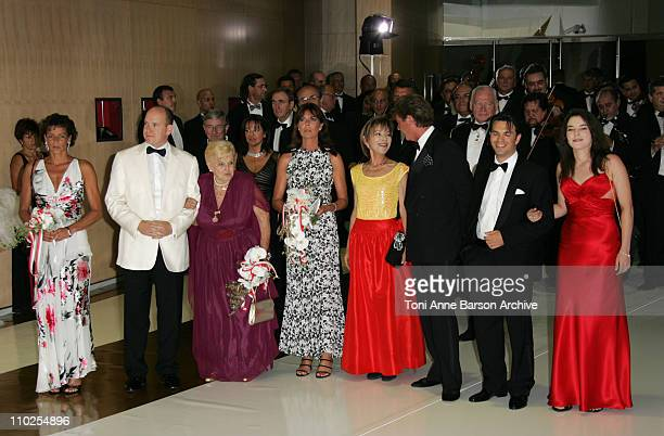 Princess Stephanie of Monaco HSH Prince Albert II of Monaco Princess Antoinette Princess Caroline of Hanover and ErnstAugust of Hanover