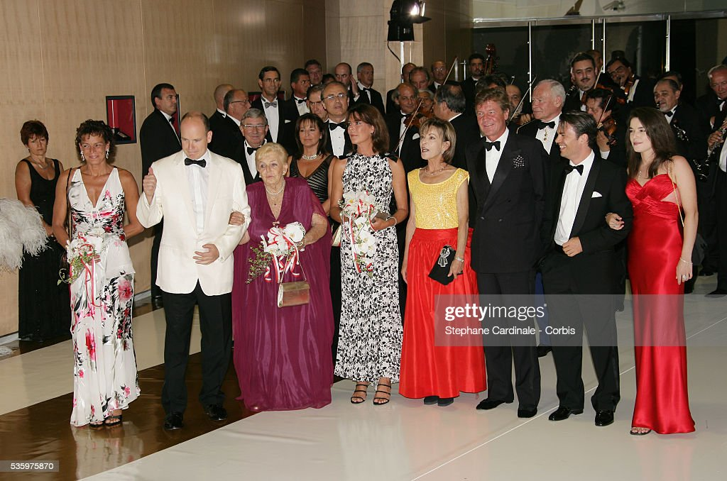 HSH Princess Stephanie of Monaco, HSH Prince Albert II of Monaco,HSH Princess Antoinette of Monaco, HRH Princess Caroline of Hanover, HRH Ernst August of Hanover and Mme Anne Elizabeth de Massy.