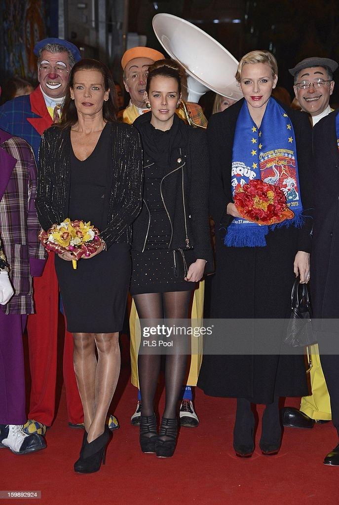 Princess Stephanie of Monaco, Pauline Ducruet and Princess Charlene of Monaco attend the closing ceremony of the Monte-Carlo 37th International Circus Festival on January 22, 2013 in Monte-Carlo, Monaco.