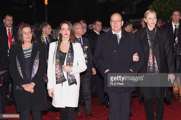 Princess Stephanie of Monaco Pauline Ducruet Prince Albert II of Monaco and Princess Charlene of Monaco attend the 38th International Circus Festival...