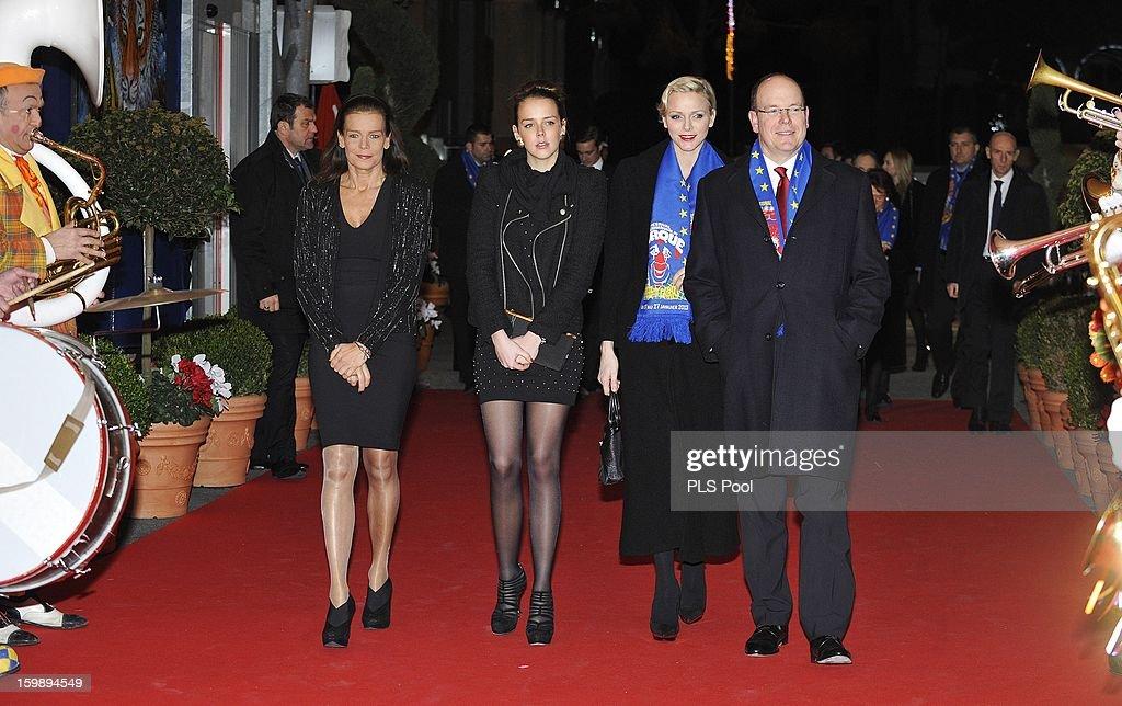 Princess Stephanie of Monaco, Pauline Ducruet, Princess Charlene of Monaco and Prince Albert II of Monaco attend the closing ceremony of the Monte-Carlo 37th International Circus Festival on January 20, 2013 in Monte-Carlo, Monaco.