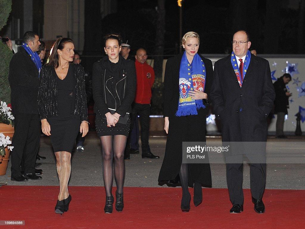 Princess Stephanie of Monaco, Pauline Ducruet, Princess Charlene of Monaco and Prince Albert II of Monaco attend the closing ceremony of the Monte-Carlo 37th International Circus Festival on January 22, 2013 in Monte-Carlo, Monaco.
