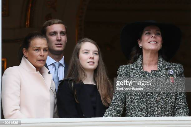 Princess Stephanie of Monaco Pierre Casiraghi Alexandra of Hanover and Princess Caroline of Hanover attend the National Day Parade as part of Monaco...