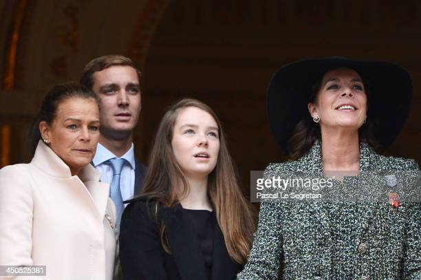 Princess Stephanie of Monaco Pierre Casiraghi Alexandra of Hanovre and Princess Caroline of Hanover attend the National Day Parade as part of Monaco...
