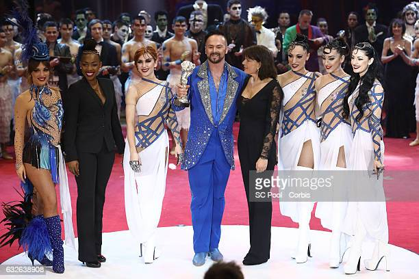 Princess Stephanie of Monaco poses with Marek Jama winner of a Silver Clown award at the awards ceremony of the 41st MonteCarlo International Circus...