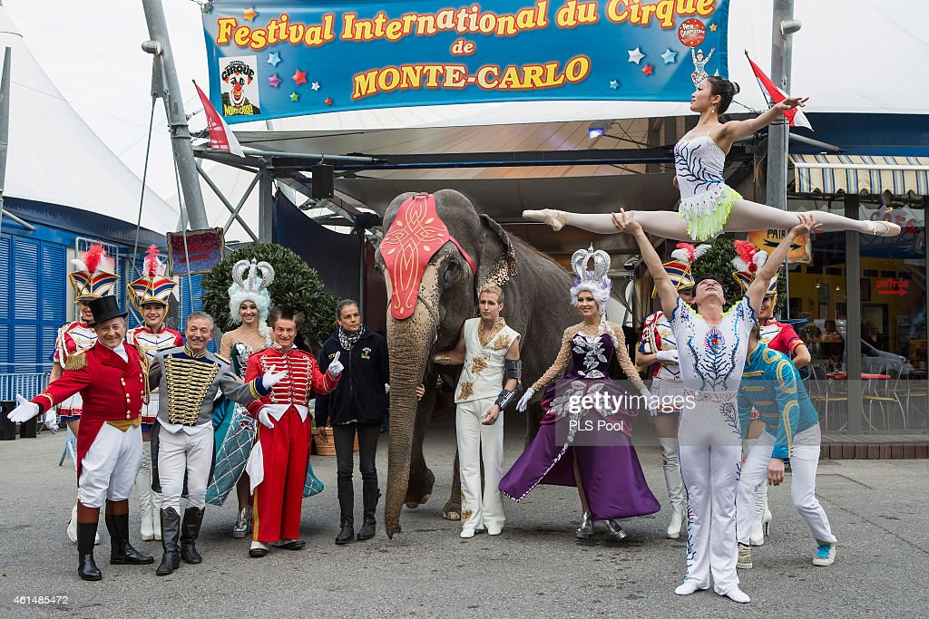 Princess Stephanie Of Monaco Gives Press Conference To Launch the 39th International Circus Festival