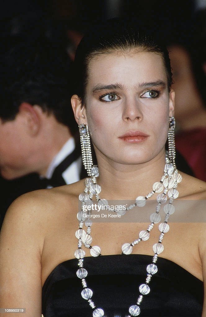 Princess Stephanie of Monaco visits Harrods department store in London 4th March 1986