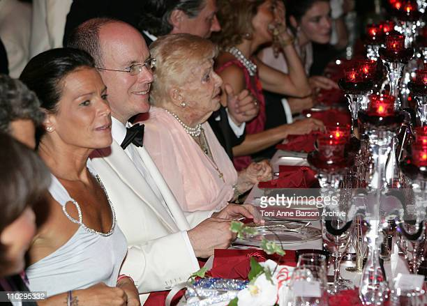 HSH Princess Stephanie of MonacoHSH Prince Albert II of Monaco and HSH Princess Antoinette at the Red Cross Ball on July 27 2007 in Monte Carlo Monaco