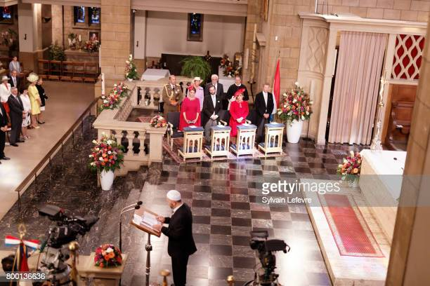 Princess Stephanie Prince Guillaume of Luxembourg Grand Duchess Maria Teresa of Luxembourg Grand Duke Henri of Luxembourg attend Te Deum for National...