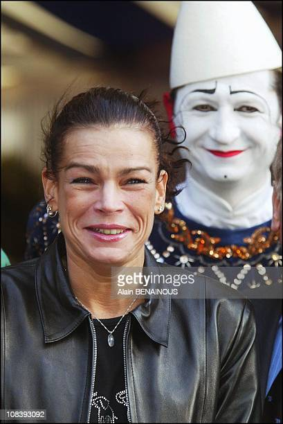 Princess Stephanie with jury in Monaco on January 17 2004