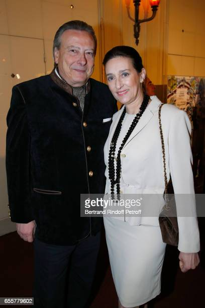 Princess Tania de Bourbon Parme and her husband Louis Arnaud L'Herbier attend the 'Enfance Majuscule 2017' Charity Gala for the benefit of abused...