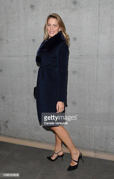 Princess Tatiana attends the Giorgio Armani fashion show as part of Milan Fashion Week Womenswear Autumn/Winter 2011 on February 28 2011 in Milan...