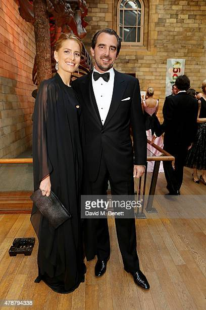 Princess Tatiana of Greece and Denmark and Prince Nikolaos of Greece and Denmark at the inaugural Walkabout Foundation gala drinks by Boujis London...