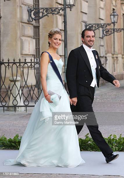Princess Tatiana of Greece and Prince Nikolaos of Greece attend the wedding of Princess Madeleine of Sweden and Christopher O'Neill hosted by King...