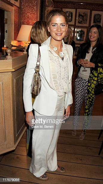 Princess Tatiana of Greece attend a lunch to celebrate the Lulu Co Autumn/Winter 2011 collection hosted by Tania Fares and Lulu Kennedy at Harry's...
