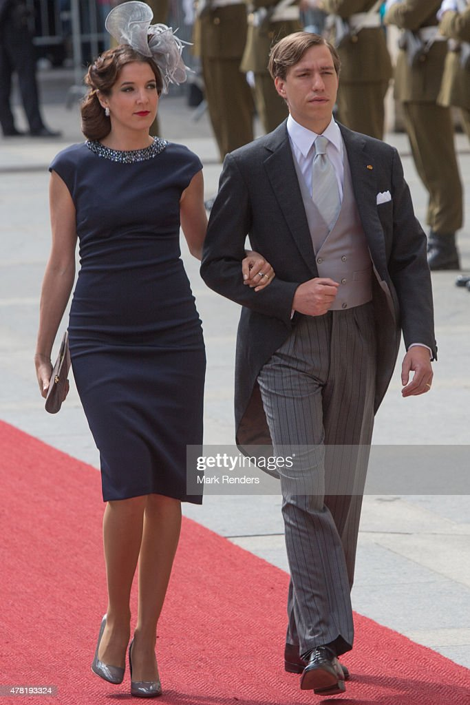 Princess Tessy and <a gi-track='captionPersonalityLinkClicked' href=/galleries/search?phrase=Prince+Louis+of+Luxembourg&family=editorial&specificpeople=674475 ng-click='$event.stopPropagation()'>Prince Louis of Luxembourg</a> assist National Day on June 23, 2015 in Luxembourg, Luxembourg.