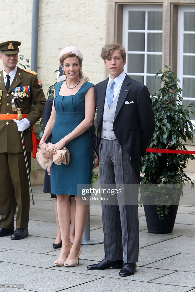<a gi-track='captionPersonalityLinkClicked' href=/galleries/search?phrase=Princess+Tessy+of+Luxembourg&family=editorial&specificpeople=7064107 ng-click='$event.stopPropagation()'>Princess Tessy of Luxembourg</a> and <a gi-track='captionPersonalityLinkClicked' href=/galleries/search?phrase=Prince+Louis+of+Luxembourg&family=editorial&specificpeople=674475 ng-click='$event.stopPropagation()'>Prince Louis of Luxembourg</a> celebrate National Day on June 23, 2013 in Luxembourg, Luxembourg.