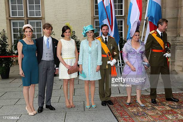 Princess Tessy of Luxembourg Prince Louis of Luxembourg Princess Alexandra of Luxembourg Princess Stephanie of Luxembourg Prince Guillaume of...