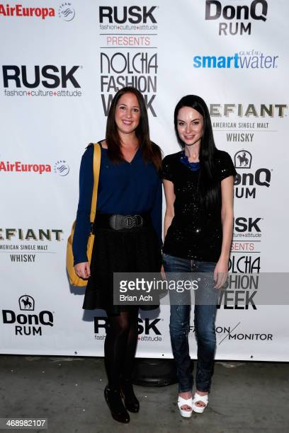 Princess Theodora of Greece and Denmark and fashion designer Leka attend the Leka show during Nolcha Fashion Week New York Fall/Winter 2014 presented...