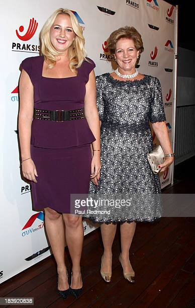 Princess Theodora of Greece and Denmark and Queen AnneMarie of Greece attend Philhellenes Gala at SkyBar at the Mondrian Los Angeles on October 9...