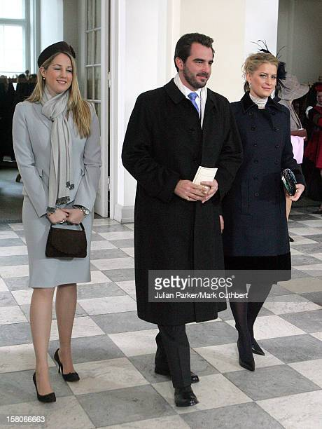 Princess Theodora Prince Nikolaos Of Greece Attend The Christening Of Crown Prince Frederik Crown Princess Mary Of Denmark'S Son Christian Valdemar...