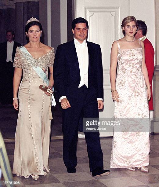 Princess Theodora Princess Alexia Of Greece Husband Carlos Morales Quintana Attend Queen Margrethe Ii Of Denmark'S 60Th Birthday Celebrations In...