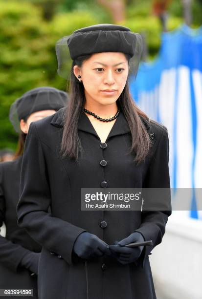 Princess Tsuguko of Takamado attends the memorial ceremony to commemorate the third anniversary of the death of Prince Katsura at Toshimagaoka...