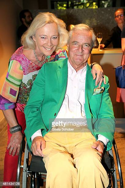 Princess Ursula Uschi zu Hohenlohe and her husband Prince Peter zu Hohenlohe during the opening of the Grey's Bar at H'Otello on July 20 2015 in...