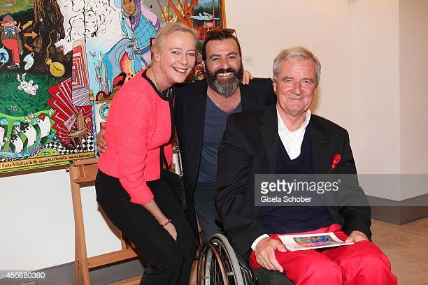 Princess Uschi zu Hohenlohe Artist Mauro Bergonzoli and Prince Peter zu Hohenlohe attend the Exhibition Opening of Mauro Bergonzoli at Bayerisches...