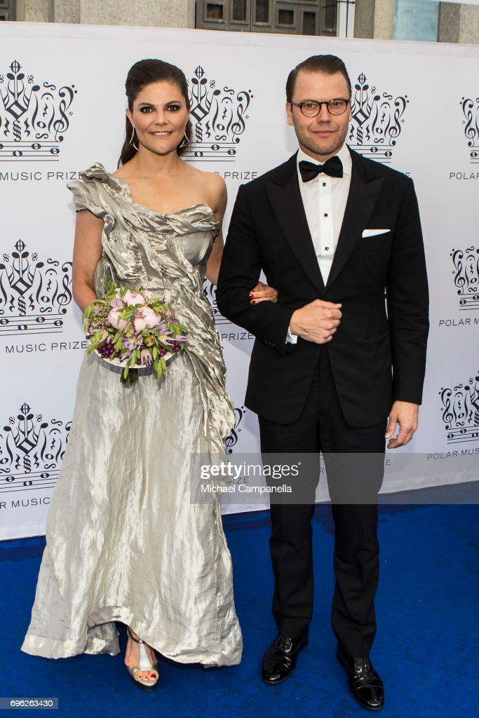 Princess Victoria and Prince Daniel of Sweden attend an award ceremony for the Polar Music Prize at Konserthuset on June 15, 2017 in Stockholm, Sweden.