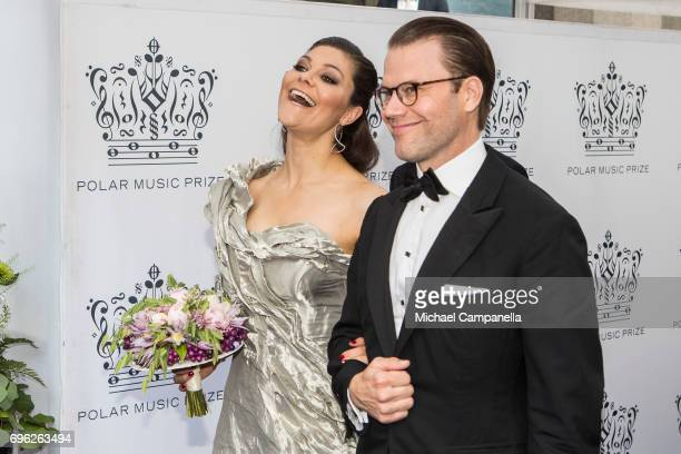 Princess Victoria and Prince Daniel of Sweden attend an award ceremony for the Polar Music Prize at Konserthuset on June 15 2017 in Stockholm Sweden