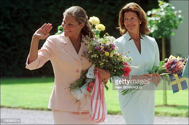 Princess Victoria and Queen Sofia in Sweden on July 14 2001