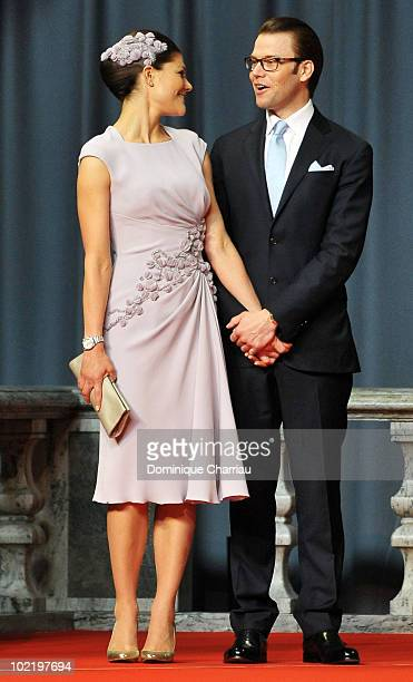 Princess Victoria from Sweden and fiance Daniel Westling attend the Government PreWedding Reception for Crown Princess Victoria of Sweden and Daniel...
