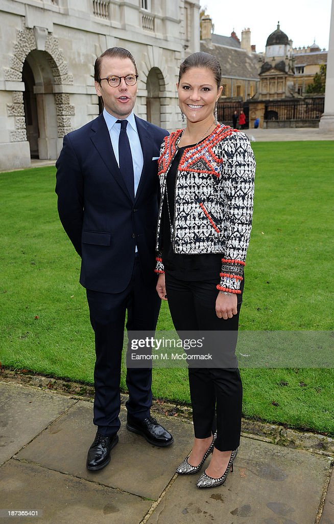Princess Victoria of Sweden and Prince Daniel of Sweden at Kings College, Cambridge University during an official visit on November 8, 2013 in Cambridge, Cambridgeshire.